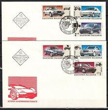 Bulgaria, Scott cat. 3674-3679. Automobiles issue on 2 First day covers.