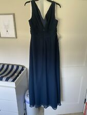 Azazie Bridesmaid Dress Julianna Style Size A16 Dark Navy