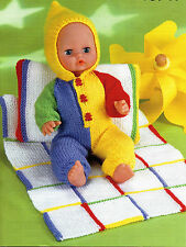 Dolls clothes pillow and blanket dk knitting pattern