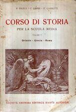 N72 Corso di storia Vol. I Oriente Grecia Roma Ed. Dante Alighieri 1948
