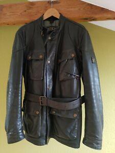Belstaff Panther Goldlabel schwarz black XL 54 Patina Original Jacke