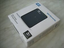 "WD Elements Portable 3TB External Drive HDD USB 3.0 Western Digital 2.5"" Black"