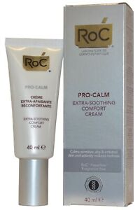 RoC Pro Calm Extra Soothing Comfort Cream 40ml Calms Sensitive Skin Feverfew