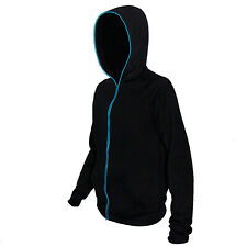 Electro Luminescent Zip Up Hoodie Blue Large