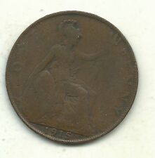 Very Nice Vintage 1915 Great Britain English Large Penny Cent-Agt211