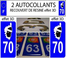 2 adhesivos de matrícula de coche CON RELIEVE 3D RESINA BANDERA CORSO