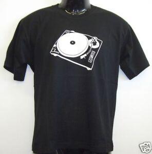 Fun T-Shirt * Turntable Scratch Schwarz S - XXL