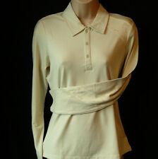Women's Oakley Stretch Longshot Golf Polo Shirt Blouse Top Uk14 Large L/s
