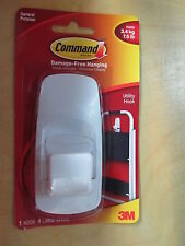 3M Command Jumbo Adhesive Hook #17004 Reusable Pack of 1