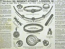 GOLDSMITHS & SILVERSMITHS LONDON 1888 Print Ad Matted