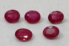 2.46cts 5pc Natural Ruby Lot Oval, Beautiful Permanent Color 5*4mm