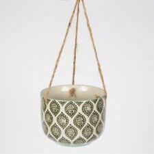 Hanging Ceramic Flower Ria Plant Pot House Indoor Outdoor Houseplant Garden