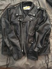 Schott Perfecto 115 Vintage Black Leather Jacket, size 46