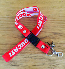 Ducati Motorcycle High Quality Stretchy Lanyard Key Chain Pit Pass Phone Holder