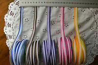 Fancy Striped Mesh Ribbon 12mm Wide 3 Metre Length 5 Colour Combo Choice QK H14