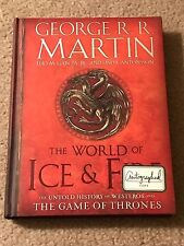 George R.R. Martin A Song of Ice and Fire The World Signed By RR Game of Thrones