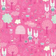 Moda Tela primavera Bunny diversión la gran caza Peonía-por 1/4 Metro