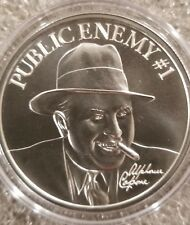 AL Capone Public Enemy #1 1 oz .999 silver round Chicago Gangster tommy gun New!