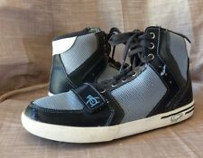 Penguin By Munsingwear Size 9 Moby Hi Top Blue Leather Mesh Sneakers EUC