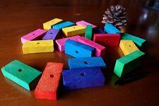 5 x Colour Pine Wood Slats 4x2x1cm - Pet Rabbit Guinea Pig Parrot Bird Toy Parts