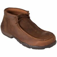 TWISTED X MEN'S STEEL TOE SADDLE LEATHER DRIVING MOCS MDMST01