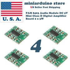 4PCS PAM8403 Mini Digital Power Amplifier Board Class D 2*3W 2.5-5V input USA