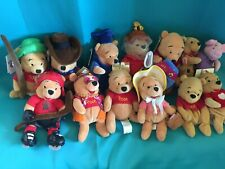 Lot Of 13 Disney Exclusive Winnie the Pooh Costume Plush Beanbags Hockey More