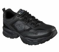 Skechers Wide Fit Black Shoes Men Memory Foam Sport Train Comfort Sneaker 52700