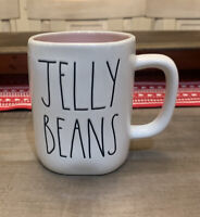 Rae Dunn By Magenta - LL JELLY BEANS Pink Ceramic Coffee Mug - Easter 🐣 Spring