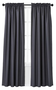 """Eclipse Braxton Thermaback Blackout (1) Curtain Panel Gray 63""""x42"""""""