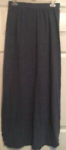 Victoria's Secret Skirt S/P Blue Long Cotton blend elastic waist
