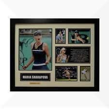 Maria Sharapova Signed & Framed Memorabilia - Ivory/Black Limited Edition