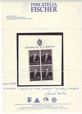 SAN MARINO 1955 FOGLIETTO GINNASTA ** PERFETTO CON GOMMA INTEGRA E FRESCA MNH VF