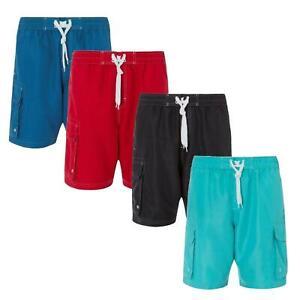 Cargo Bay Men's Cargo Shorts Elasticated Waist Knee Length Lightweight Summer