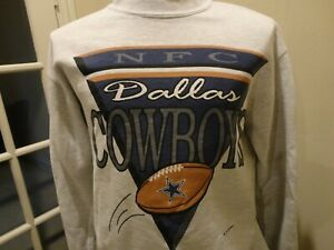 Vtg 1993 Dallas Cowboys NFC NFL Football Logo Gray Sweatshirt Adult M Very Nice
