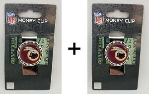 Lot of 2 X Brand new Licensed Sealed NFL Washington Red skins Money Clip