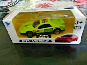 3xAUTO WORLD  CITY VEHICLE -TOY CARS  METAL-DIE - CAST--SUIT OVER 3 YEARS OLD--