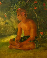 "stunning art oil painting  handpainted on canvas ""in a  garden"""