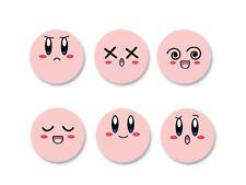 Lot Pack Badge Button Ø25mm Kirby Face Dream Land Nintendo Jeu Video Game Retro