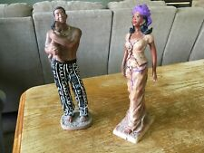 Negro Man Woman And Baby Statue
