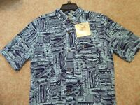 "ALOHA Shirt  JOE MARLIN Brand ""FISHERMAN"" Theme Dorado NEW $50 Tags XL"