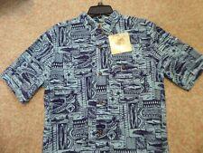 "ALOHA Shirt  JOE MARLIN Brand ""FISHERMAN"" Theme Dorado NEW $50 Tags 2XL"