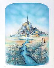 Rolf RAFFLEWSKI Mt Saint Michael Castle Signed French Lithograph