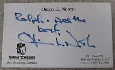 Lt. Col. Oliver North Signed Autographed Card Personally Obtained