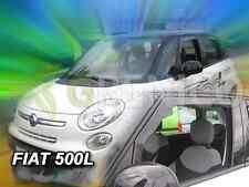 FIAT 500L 5-portes 2012-présent Deflecteurs de vent 2-pièces HEKO Bulles