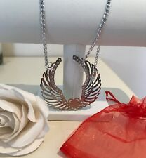 necklace ���& pouch ( Xmas) New large angel wings silver fashion