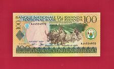 Beautiful 100 Francs 2003 Rwanda Unc Banknote (P-29b) Sign Aw Cattle & Lake Kivu