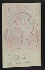 FRANCE 1720-Les Femmes Modernes-En Relief-ART NOUVEAU-New-Gaufré-Embossed-1904
