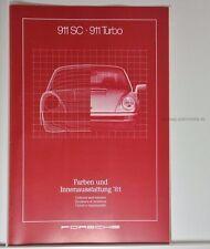 Porsche 911 SC, 911 Turbo Farben und Innenausstattung Prospekt 1981