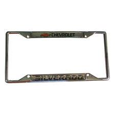 CHEVROLET SILVERADO  Zinc Chrome License Plate Frame